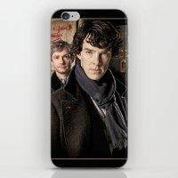 sherlock iPhone & iPod Skins featuring Sherlock  by SB Art Productions