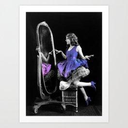 Galaxy Dress Art Print