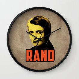 Ayn Rand Wall Clock