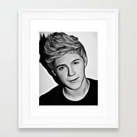 niall horan Framed Art Prints featuring Niall Horan  by D77 The DigArtisT