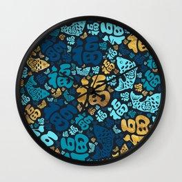 Chinese Lucky Symbols Pattern #3 Wall Clock