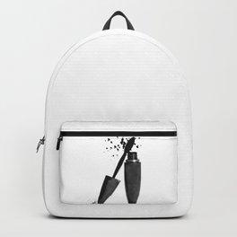 Black mascara fashion illustration Backpack