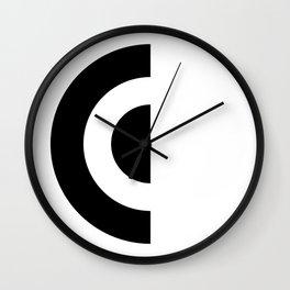 E - Alphabet Wall Clock
