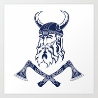 viking Art Prints featuring Viking by Spiro Vasilevski