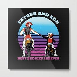 Motocross Father Gift Metal Print