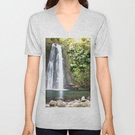 lime green waterfall Unisex V-Neck