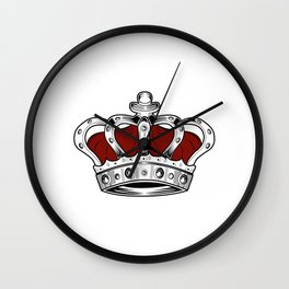 Crown - Red Wall Clock