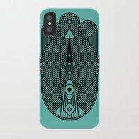 hamsa iPhone & iPod Cases featuring hamsa  by Leandro Pita