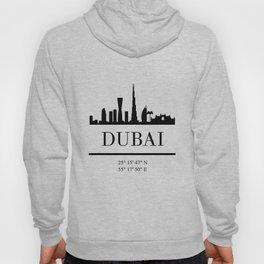 DUBAI UAE BLACK SILHOUETTE SKYLINE ART Hoody