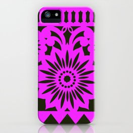 Papel Picdo - Pink + Black iPhone Case
