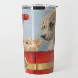 What Santa Left One Year Travel Mug