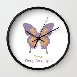Ulysses Butterfly 9 Wall Clock
