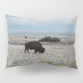Bison in The Field Pillow Sham