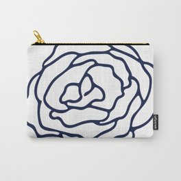 Rose Nautical Navy on White Carry-All Pouch