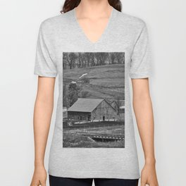 Barn In The Valley Unisex V-Neck