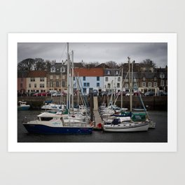 Anstruther Boat Yard Art Print