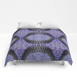 Snake Skin-violet Comforters