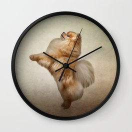 Dog Pomeranian Spitz Wall Clock