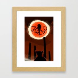 The Moon Presence  Framed Art Print