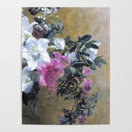 Painterly Hibiscus Poster