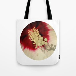 Hibiscus Flower Close Up Photography Floral Art Tote Bag