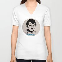 kerouac V-neck T-shirts featuring Jack Kerouac Record Painting by All Surfaces Design