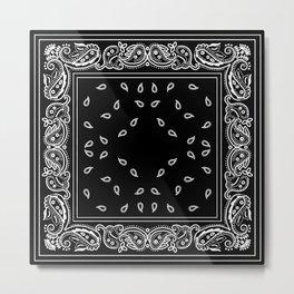 Black & White Bandana Metal Print