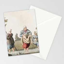 Illustration of leech finders from The Costume of Yorkshire (1814) by George Walker (1781-1856) Stationery Cards