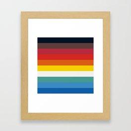 Multicolor Retro Stripes Trickster Framed Art Print