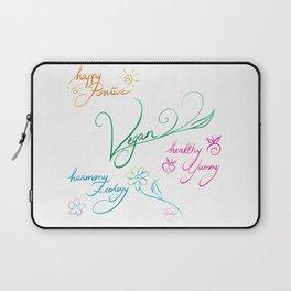Vegan & happy lifestyle Laptop Sleeve
