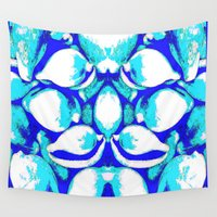 seashell Wall Tapestries featuring Pattern Seashell by Christa Bethune Smith