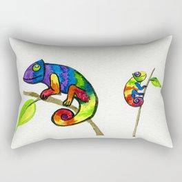 Little Rainbow Chamelons Rectangular Pillow
