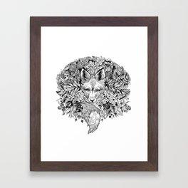hidden fox Framed Art Print