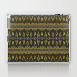 Navy and Gold IKAT Laptop & iPad Skin