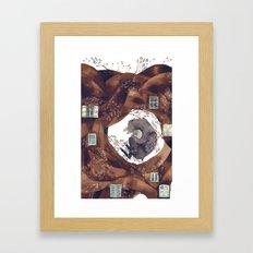 BEAR FOREST Framed Art Print