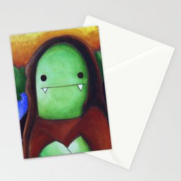 Monster Imitates Art: Monster Lisa Stationery Cards