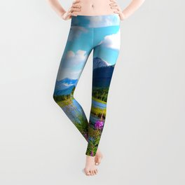 God's Country - Summer in Alaska Leggings
