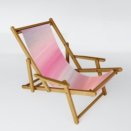 Girly aurora pink coral abstract brushstrokes Sling Chair