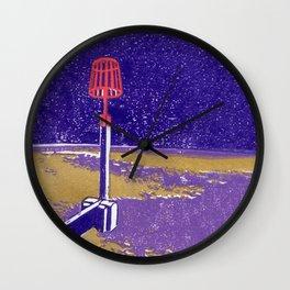 Seaview Fire Beacon in Purple Wall Clock
