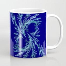 Delicate ornaments in blue Coffee Mug
