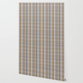 Winter, Plaid, Brown and Grey Wallpaper