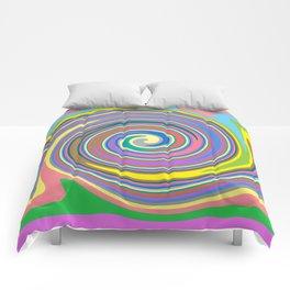 Rainbow swirl pattern Comforters