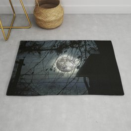Spooky Moon Glow Silhouettes. Rug