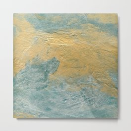 Copper Turquoise #03 Abstract Texture Metal Print