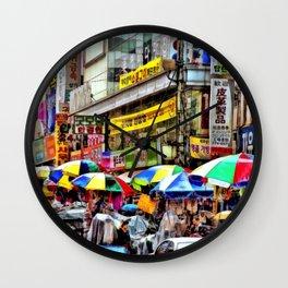 Korean Rain (Painted Version) Wall Clock