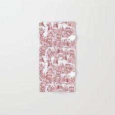 Doctor Who Toile de Jouy | 'Walking Doodle' | Red Hand & Bath Towel