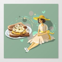 Ice Cream Sandwich With Pineapple and Coconut Canvas Print