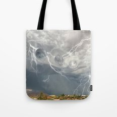 Arrival of the Monsoon Storm Generator Tote Bag