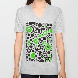 Black versus Green Unisex V-Neck