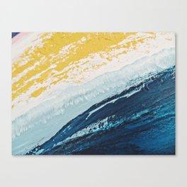 SUNRISE BEACH | Acrylic abstract art by Natalie Burnett Art Canvas Print